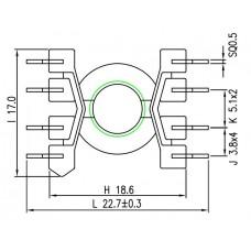 RM6-1-8-JPIN-L Bobbins